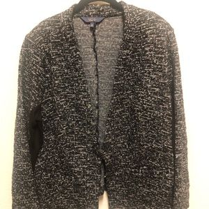 Rachel Roy Black White Tweed Blazer 1X